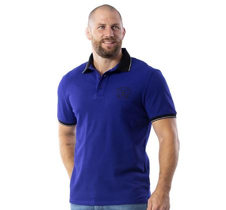 RUCKFIELD/  Polo Maori Rugby à manches courtes Bleu moyen