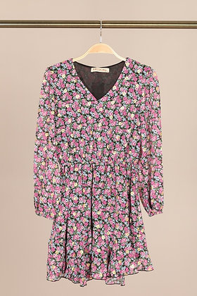 PM COLLECTION : ROBE MOTIF ROSE