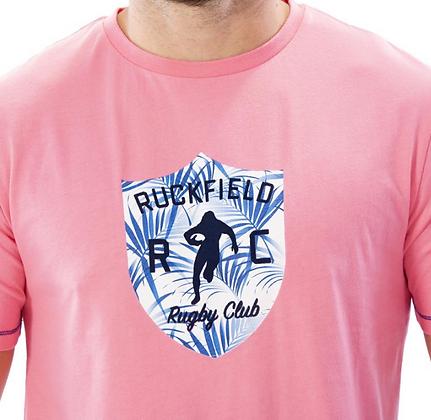 RUCKFIELD: T-shirt rose Palm Beach
