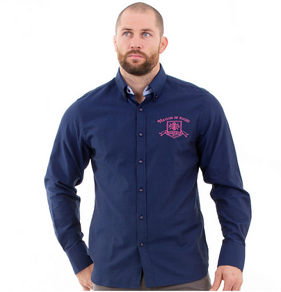 Chemise maison de rugby marine Bleu marine