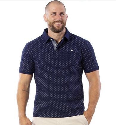 RUCKFIELD : Polo à motifs bleu