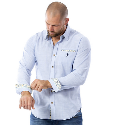 RUCKFIELD : Chemise bleu clair rugby