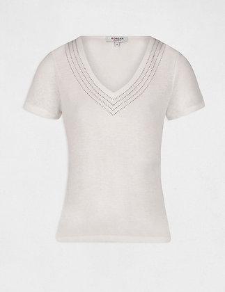 MORGAN : T-shirt manches courtes détails strass femme