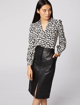 MORGAN DE TOI : Chemise manches longues imprimé floral noir femme