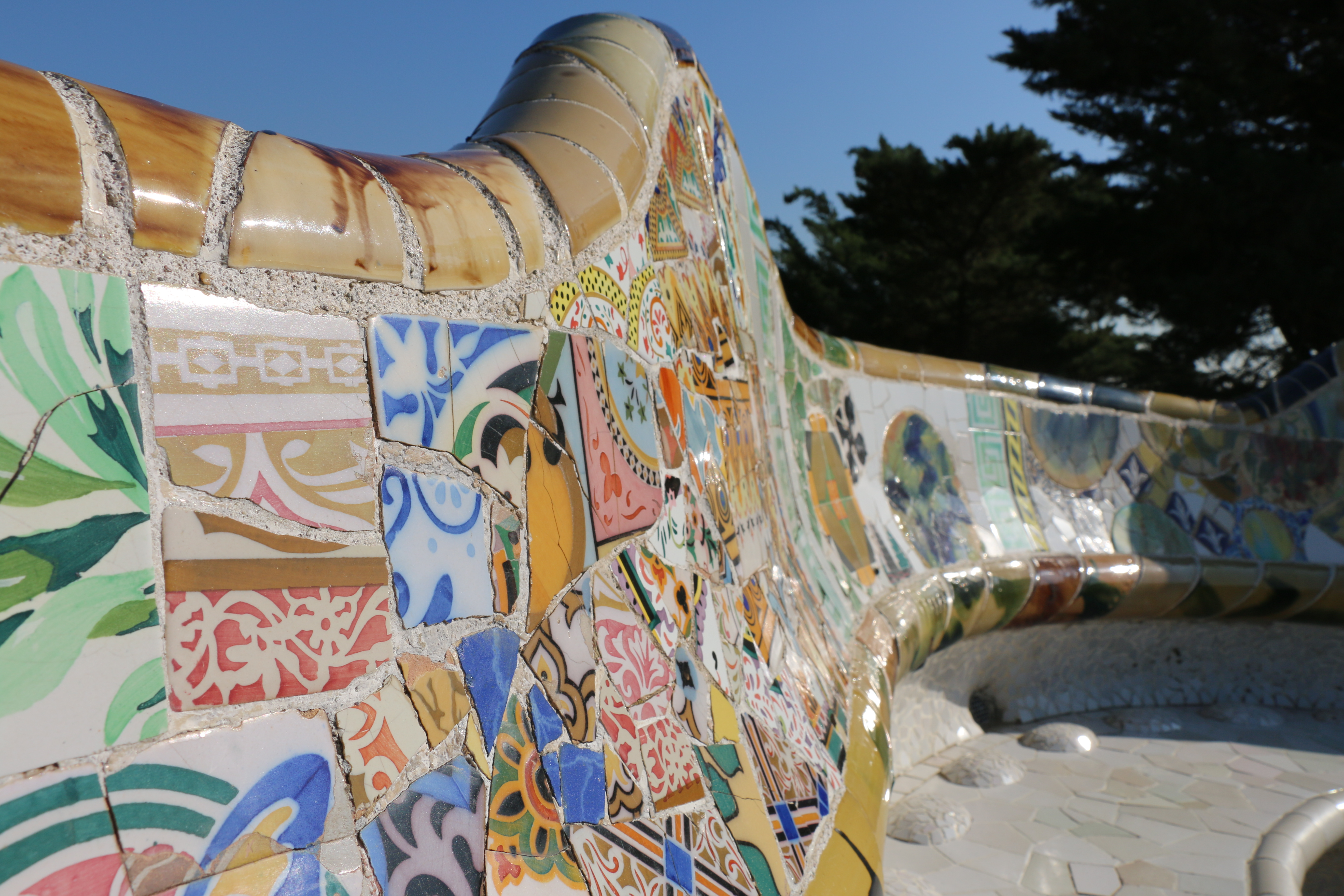 Bench at Parc Guell