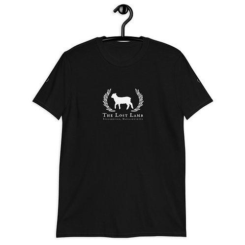 Adult Black Cotton Unisex Classic Lost Lamb Logo T-Shirt