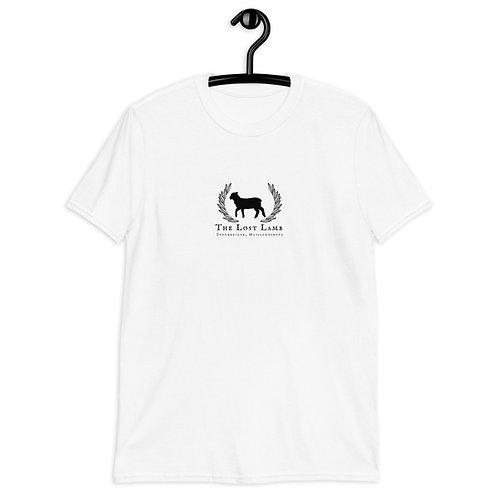 Adult White Cotton Unisex Classic Lost Lamb Logo T-Shirt