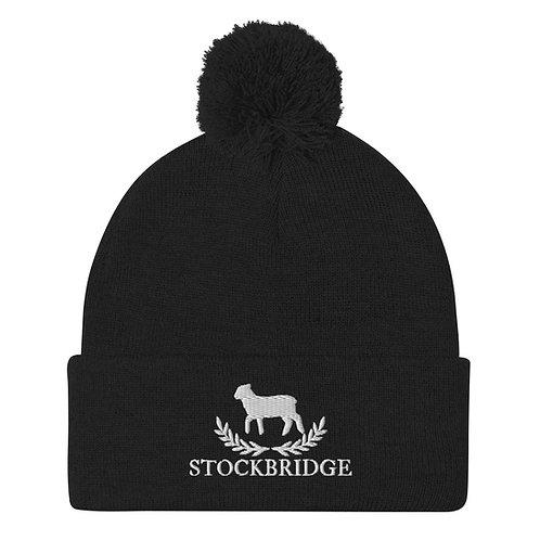 Pom-Pom Stockbridge Beanie