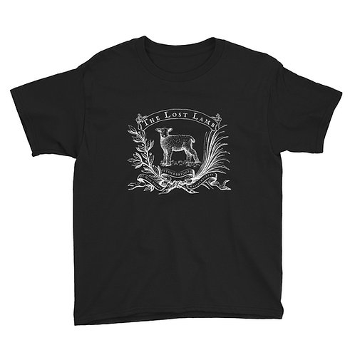 Youth Black Cotton Short Sleeve T-Shirt