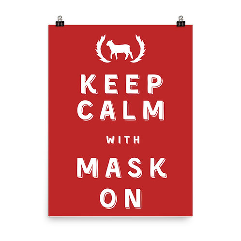 Poster Keep Calm With Mask On