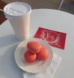 Coffee w/ Raspberry Macarons