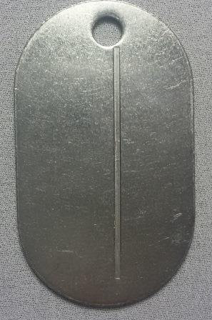 Жетон овальный старого образца (нерж. ст.) пустой