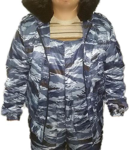 """Зим. костюм """"серый камыш"""". Комб.+куртка."""