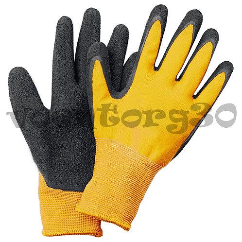 Прорезиненные перчатки рабочие