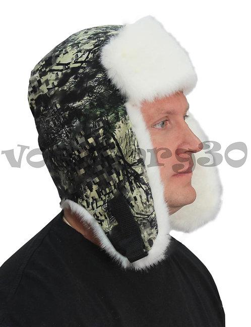 Шапка-ушанка  (подкладка Бязь/Белый мех под норку)