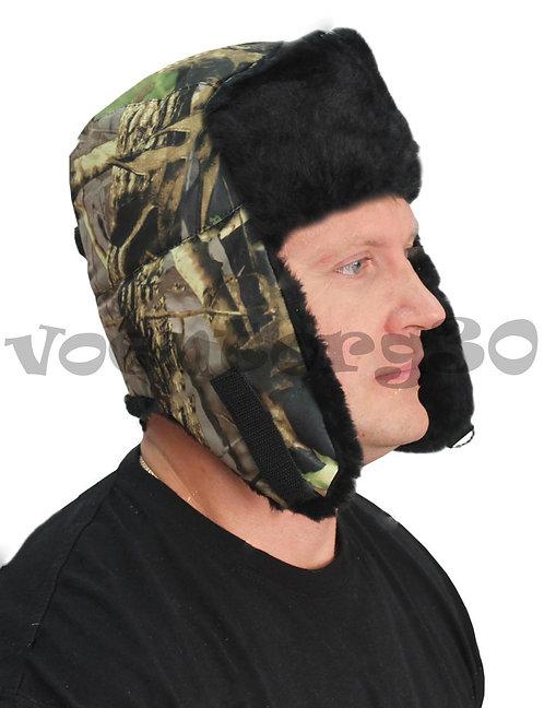 Шапка-ушанка  (подкладка Бязь/Черный мех под норку)