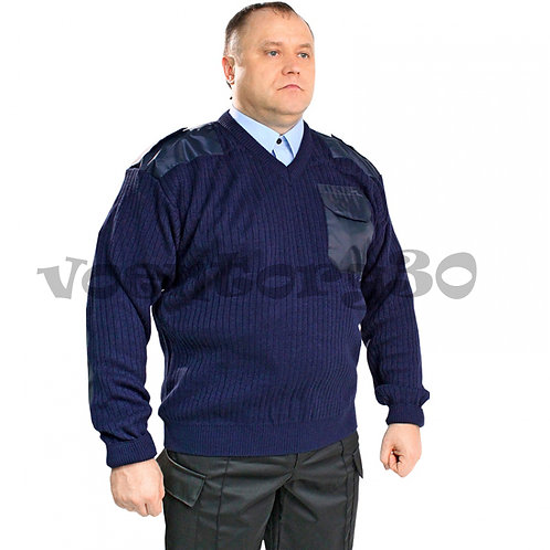 Свитер темно-синий V