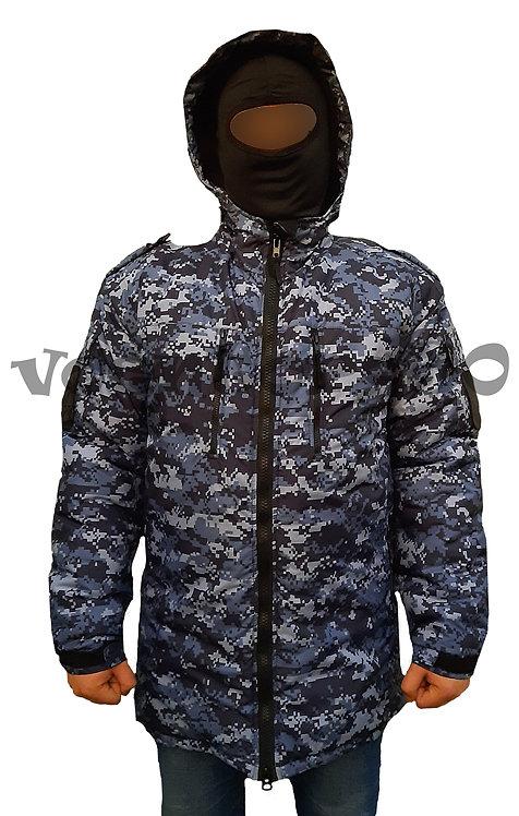Бушлат-куртка Синий пиксель
