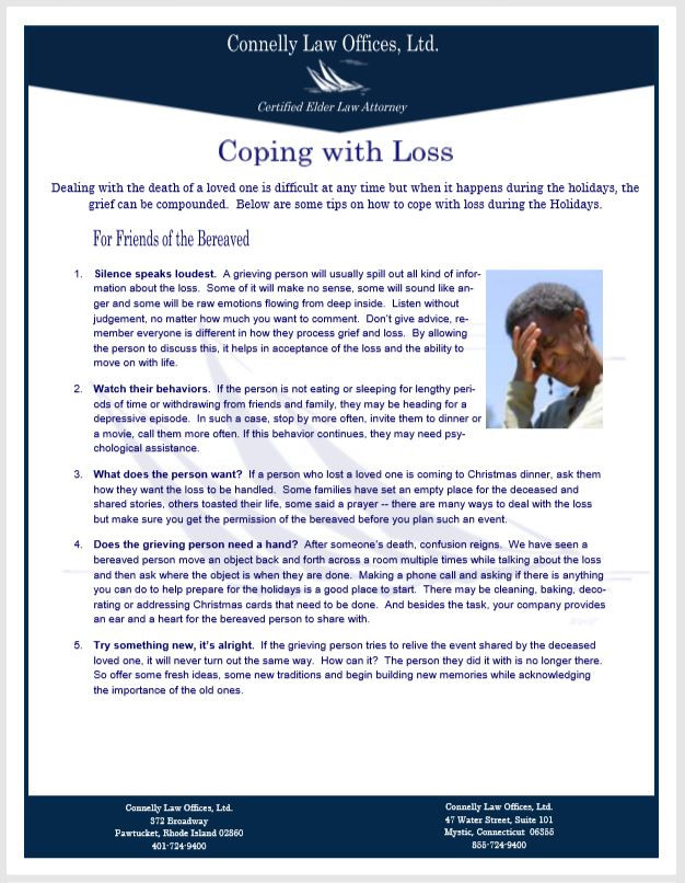 Connelly Law Handout on Loss