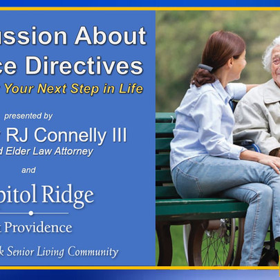 Special Virtual Presentation on Advance Directives - Join Us!