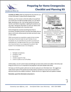 Connelly Law Home Emergency Checklist