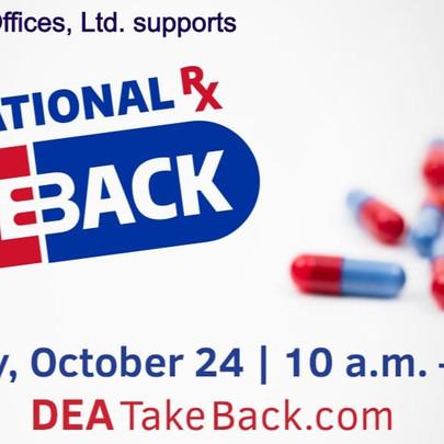 National Prescription Drug Take-Back Day is October 24