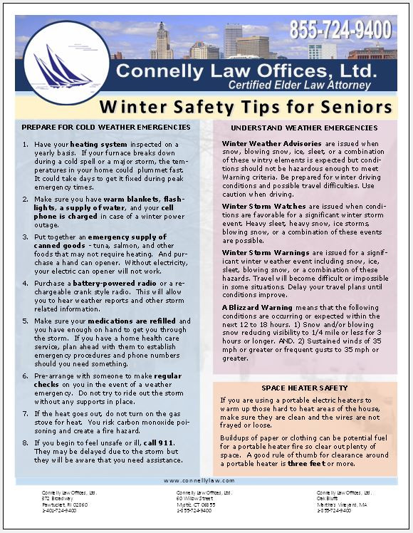 Connelly Law Offices, Ltd. Winter Safety Tips