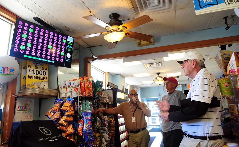 Problem gambling in seniors Convenience store