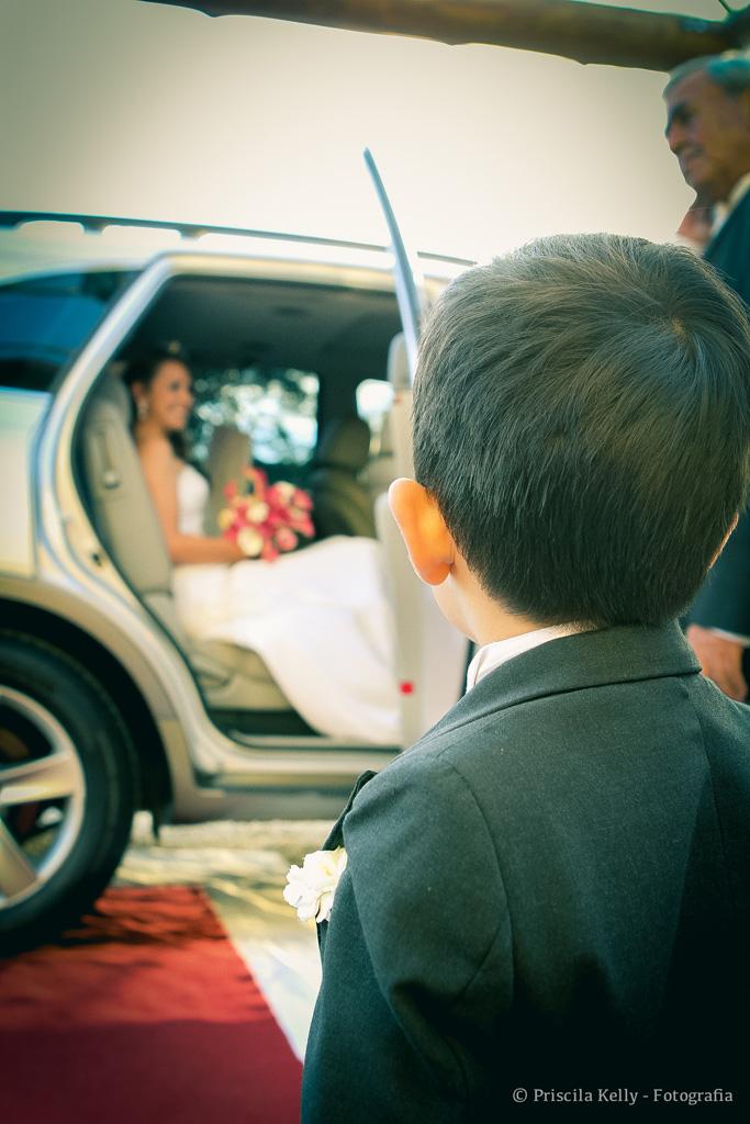 Olhar para noiva