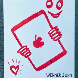 iPad Werner (self painting)