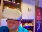 Werner mit Oculus Quest 2 VR Brille