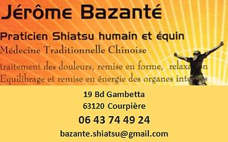 Jérôme Bazante, Shiatsu Humain et Equin