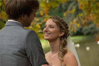 Bohemian bruidskapsel & bruidsvisagie