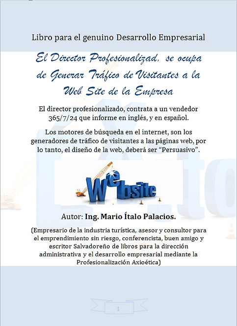 EL DIRECTOR PROFESIONALIZADO, SE OCUPA DE GENERAR TRÁFICO DE VISITANTES A LA WEB
