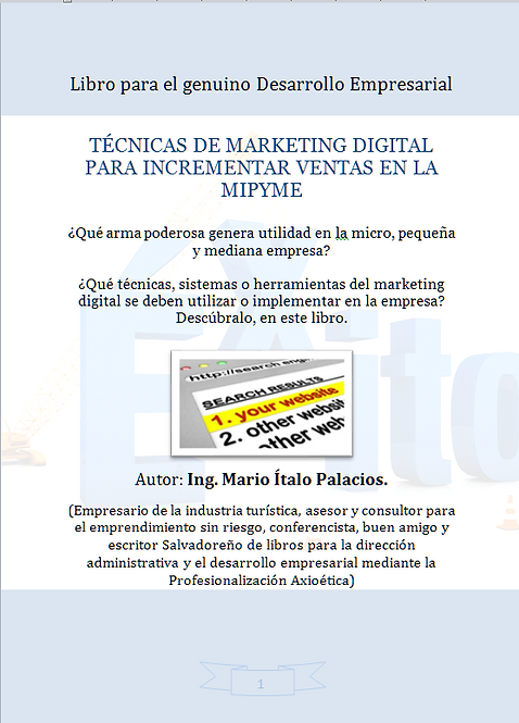 TÉCNICAS DE MARKETING DIGITAL PARA INCREMENTAR VENTAS EN LA MIPYME