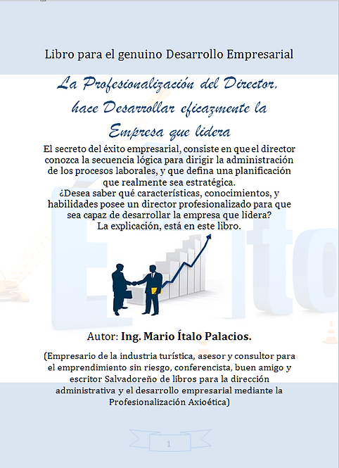 LA PROFESIONALIZACIÓN DEL DIRECTOR, HACE DESARROLLAR EFICAZMENTE LA EMPRESA