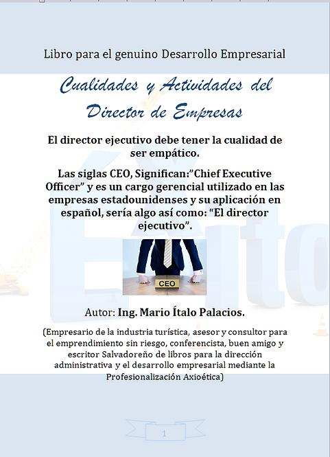 CUALIDADES Y ACTIVIDADES DEL DIRECTOR DE EMPRESAS
