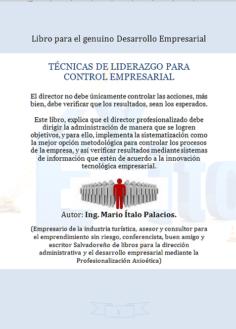 TÉCNICAS DE LIDERAZGO PARA CONTROL EMPRESARIAL