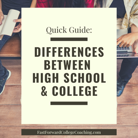Quick Guide: Differences Between High School and College (free pdf)