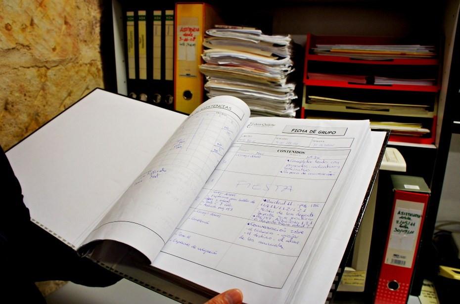 Журнал преподавателей в школе Don Quijote