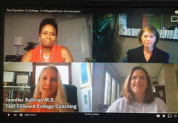 Transition to College - zoom meeting, co