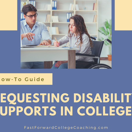 How to Request Disability Supports in College