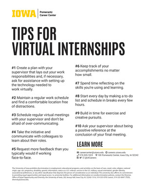 Virtual Internship Tips