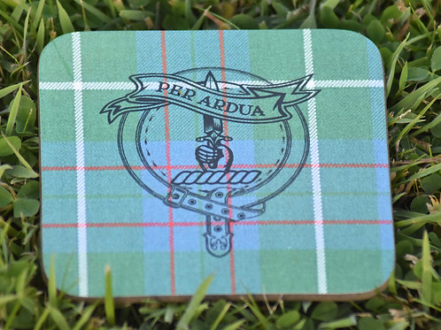 MacIntyre Tartan Coaster with Clan Crest