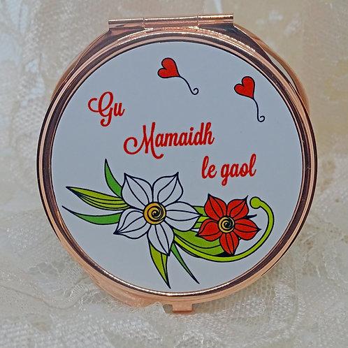 Personalised Meadow Flower Compact Mirror
