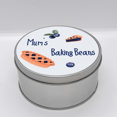 Mum's Baking Beans Tin.  Can be personalised