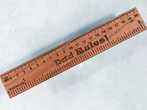 Engraved Father's Day Wooden Ruler