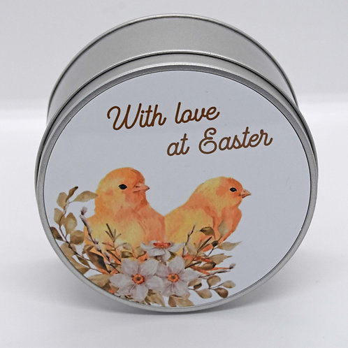 Personalised Chicks and Flowers Easter Tin