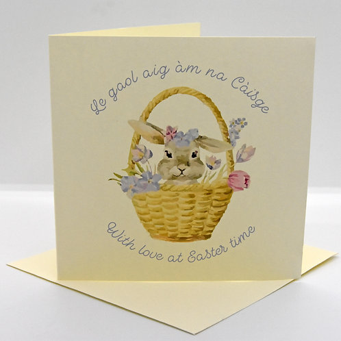 Scottish Gaelic Bunny Easter Card