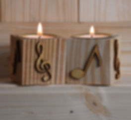 Handcrafted pinewood tealights by Dehmel Designs
